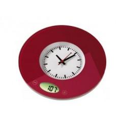 Hama 104982 Keukenweegschaal/Klok Pauline Rood